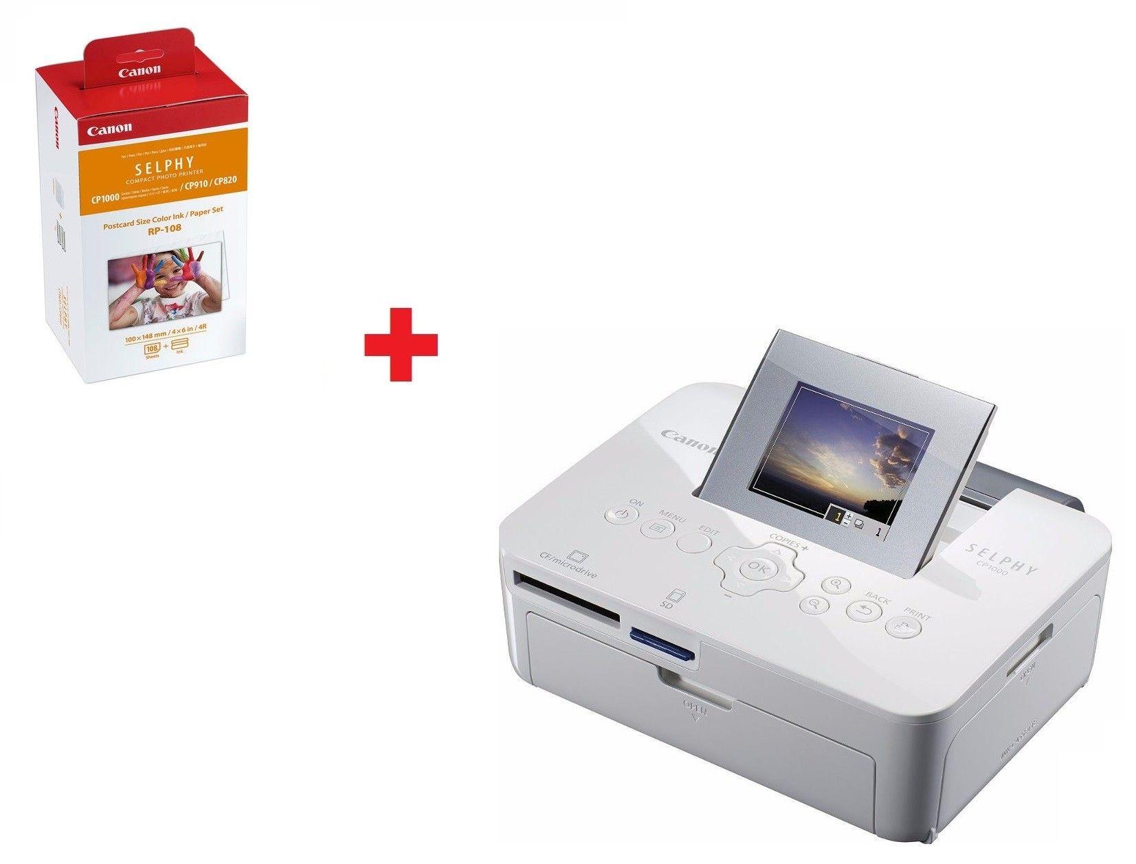 Impressora Fotográfica Instantânea Canon + Cartucho Brinde - RP108 + Cp1000