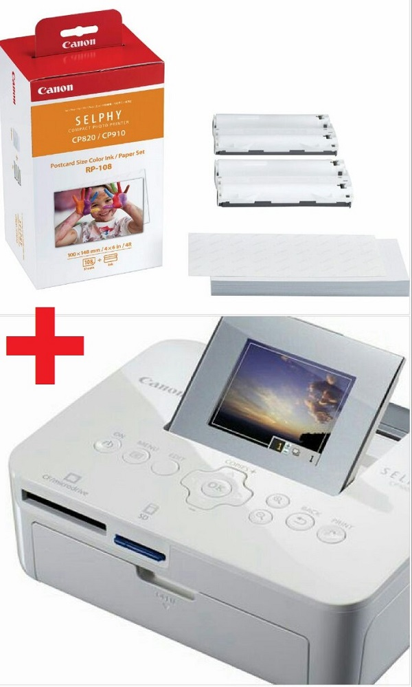 Impressora Fotográfica Instantânea Canon Cp1000 + Cartucho Brinde