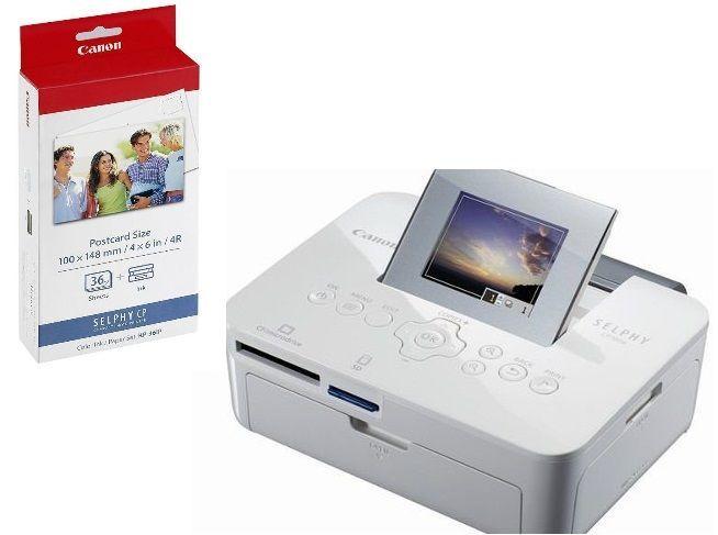 Impressora Fotográfica Instantânea Canon Cp1000 e Cartucho Brinde KP36IP - CP1000 + KP36 IP
