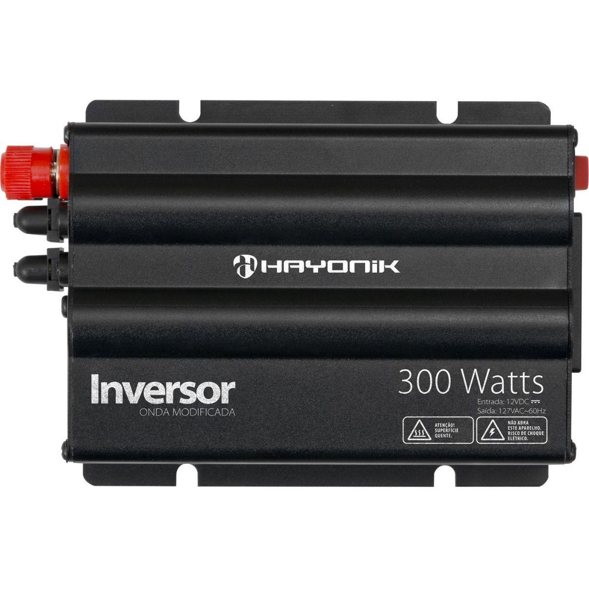 Inversor 300W 12VDC/127V Onda Modificada Cinza Escuro - HAYONIK