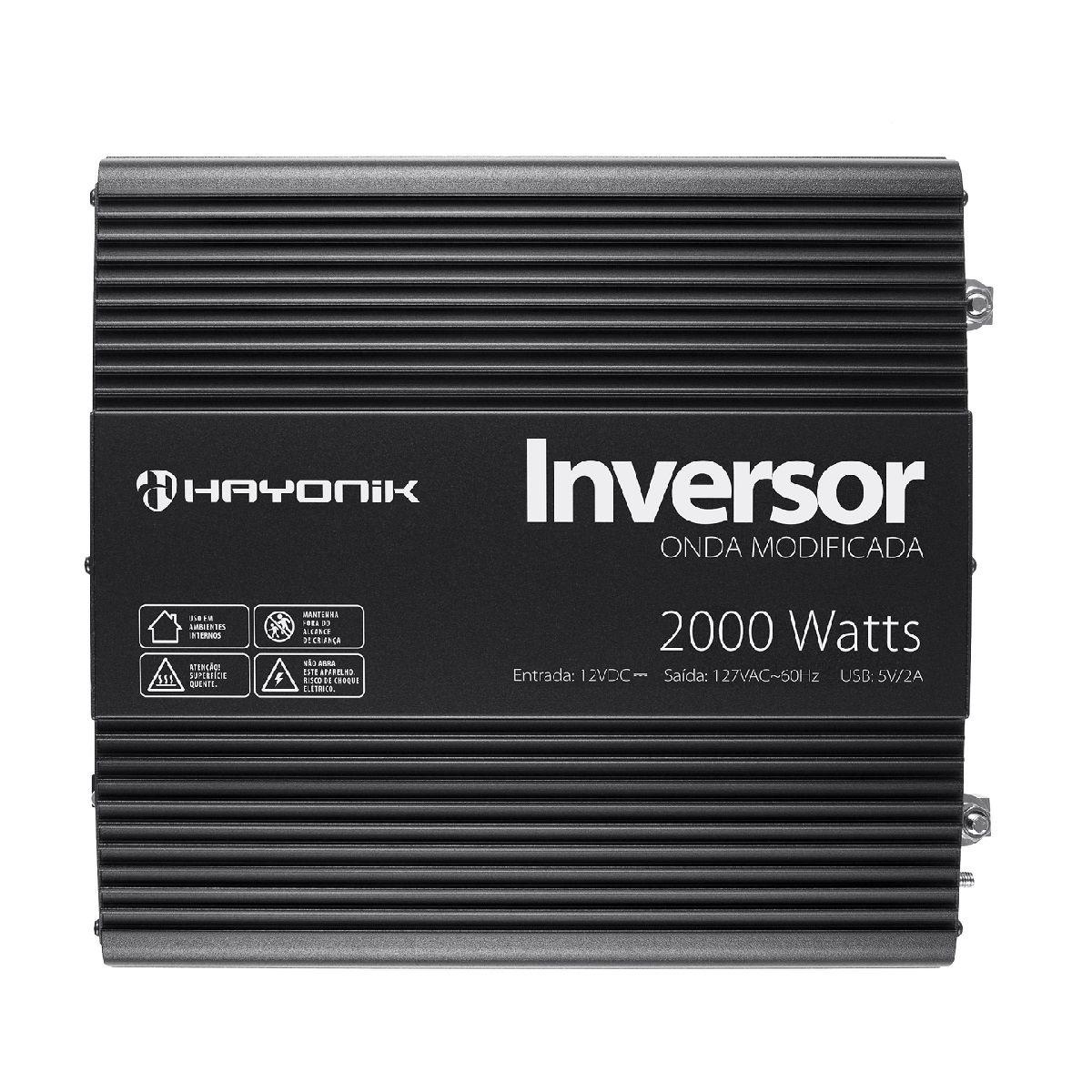 Inversor de Onda Modificada 2000W 12VDC 220V - PW11-5