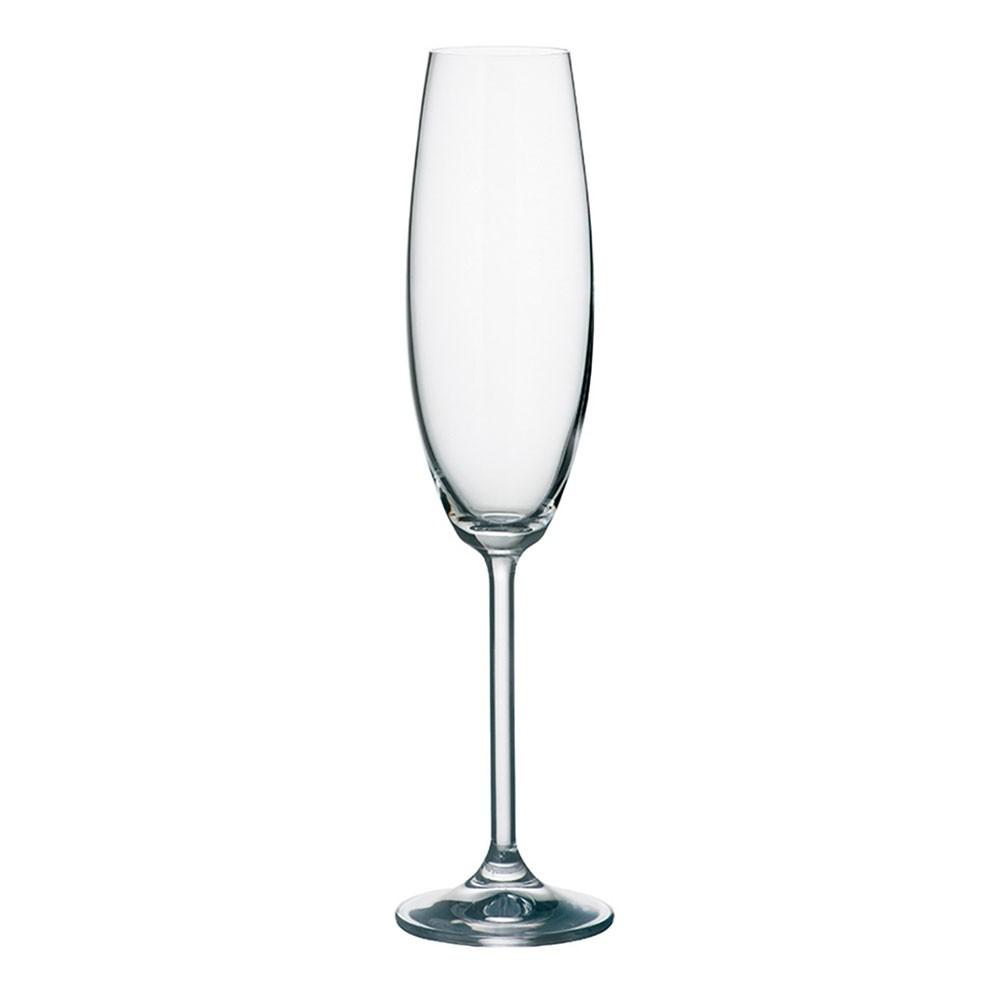 Jogo 2 Taças Champagne 230 ML Ricaelle Bohemia - 2FOR2-230