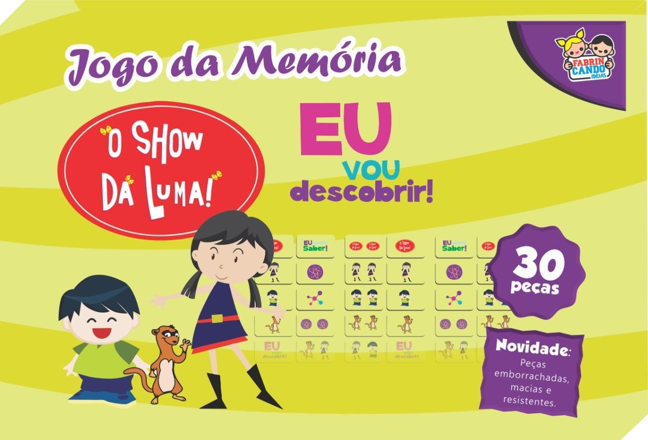 Jogo Da Memória O Show Da Luma 30 Peças - 6950