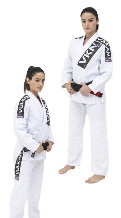 Kimono Vulkan Para Jiu Jitsu Profissional Adulto - VKN PRO BRANCO FEMININO