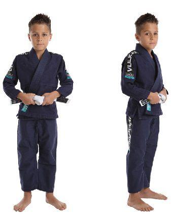 Kimono Vulkan Infantil Para Jiu Jitsu - VKN PRO Azul Marinho