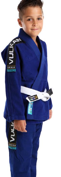 Kimono Vulkan Infatil Para Jiu Jitsu - VKN PRO AZUL ROYAL INFANTIL MASCULINO