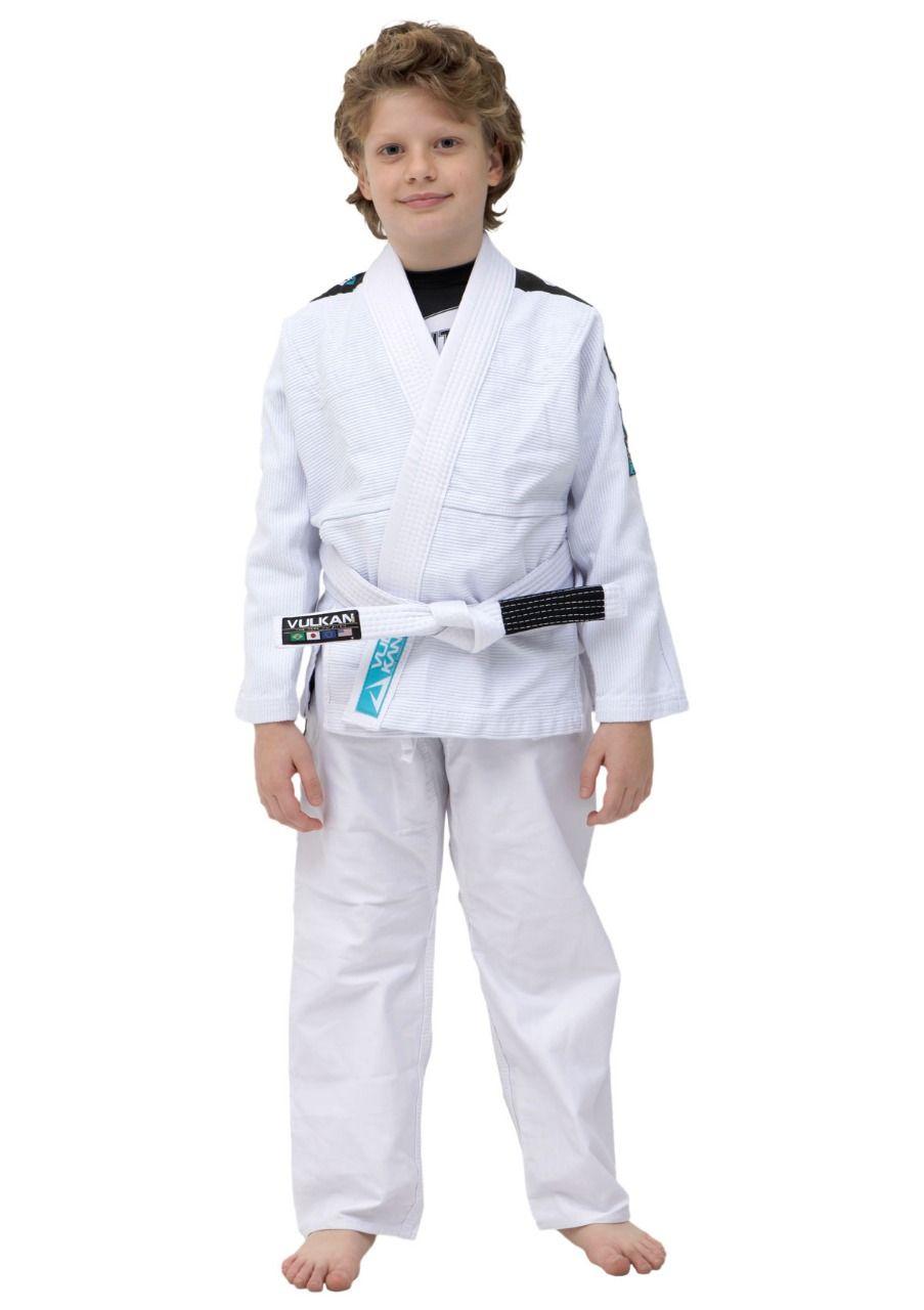 Kimono Vulkan Infantil Para Jiu Jitsu - VKN PRO BRANCO INFANTIL