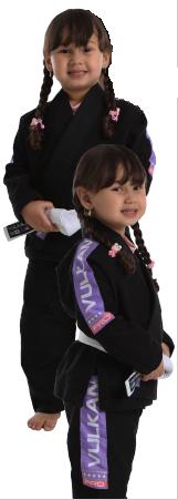 Kimono Vulkan Infantil Para Jiu Jitsu - VKN PRO PRETO INFANTIL FEMININO