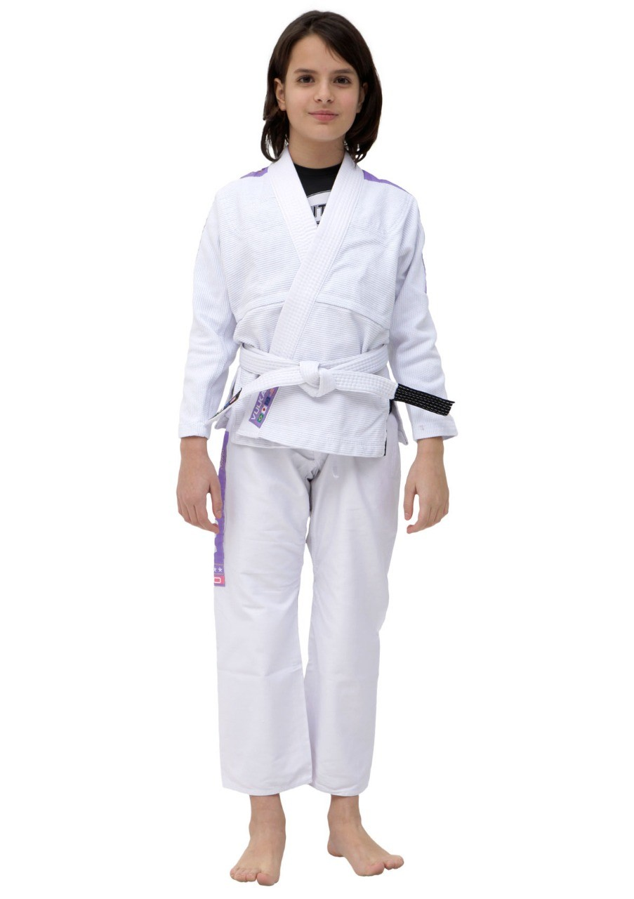 Kimono Vulkan Infatil Para Jiu Jitsu - VKN PRO BRANCO INFANTIL FEMININO