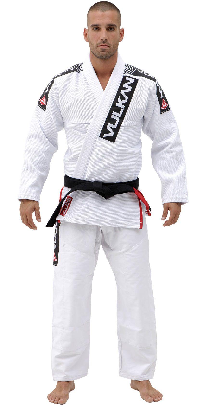 Kimono Vulkan Para Jiu-jitsu Profissional Adulto - Phanton Pro Branco Masculino