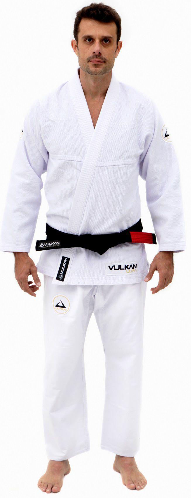 Kimono Vulkan Para Jiu-jitsu Profissional Adulto Masculino - NEO ULTRA LIGHT BRANCO