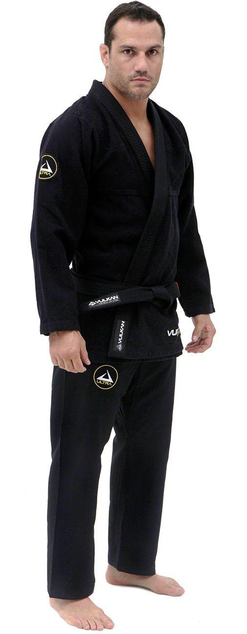 Kimono Vulkan Para Jiu-jitsu Profissional Adulto Masculino - NEO ULTRA LIGHT PRETO