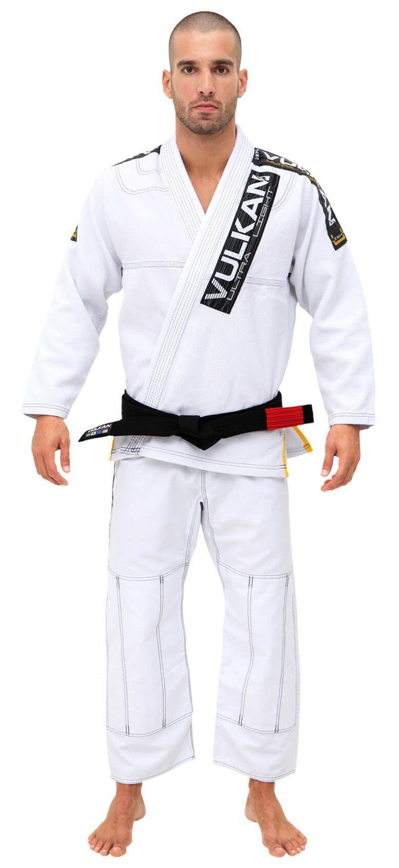 Kimono Vulkan Para Jiu-jitsu Profissional Adulto Masculino - ULTRA HD BRANCO