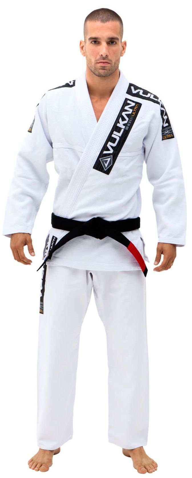 4e55b4a31a342 Kimono Vulkan Para Jiu-jitsu Profissional Adulto Masculino - ULTRA LIGHT  BRANCO