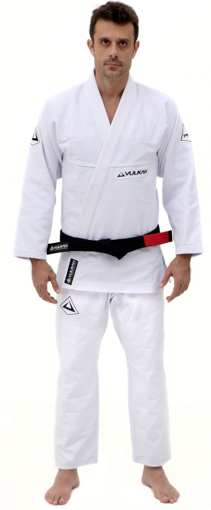 Kimono Vulkan Para Jiu-jitsu Profissional Adulto - Pro Evolution Branco Masculino