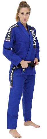 Kimono Vulkan Para Jiu Jitsu Profissional Adulto - VKN Pro Azul Royal Feminino