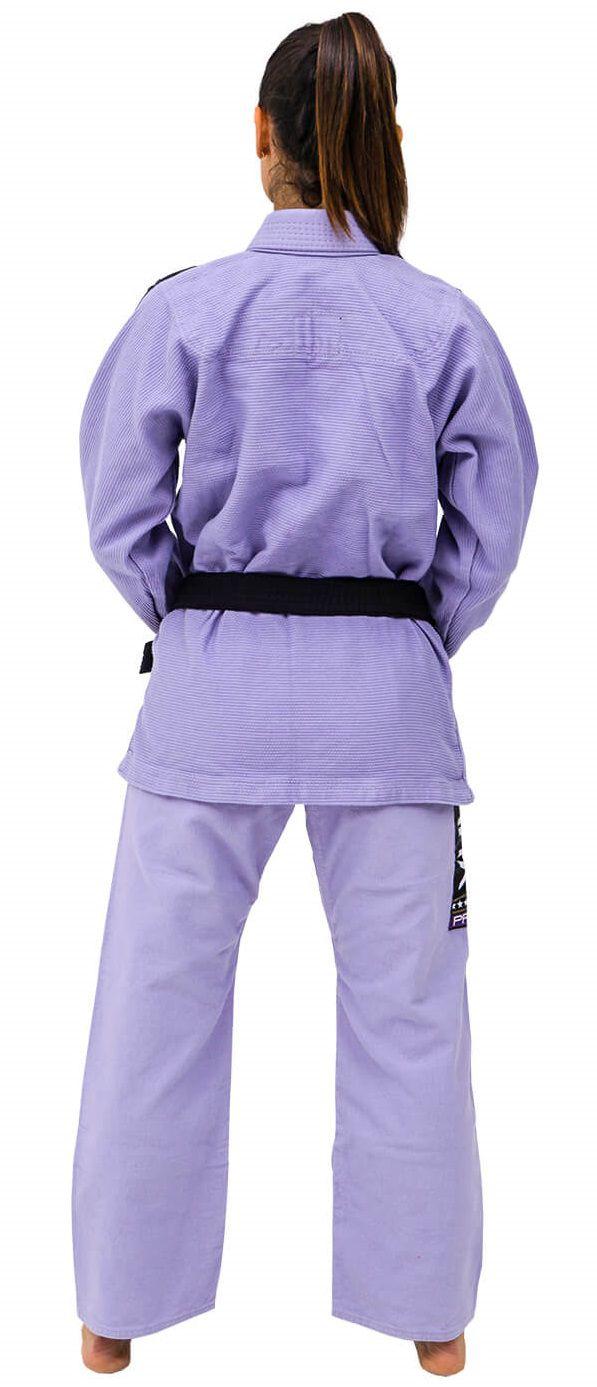 Kimono Vulkan Para Jiu Jitsu Profissional Adulto - VKN PRO LILAS FEMININO
