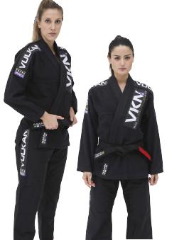 Kimono Vulkan Para Jiu Jitsu Profissional Adulto - VKN PRO PRETO FEMININO