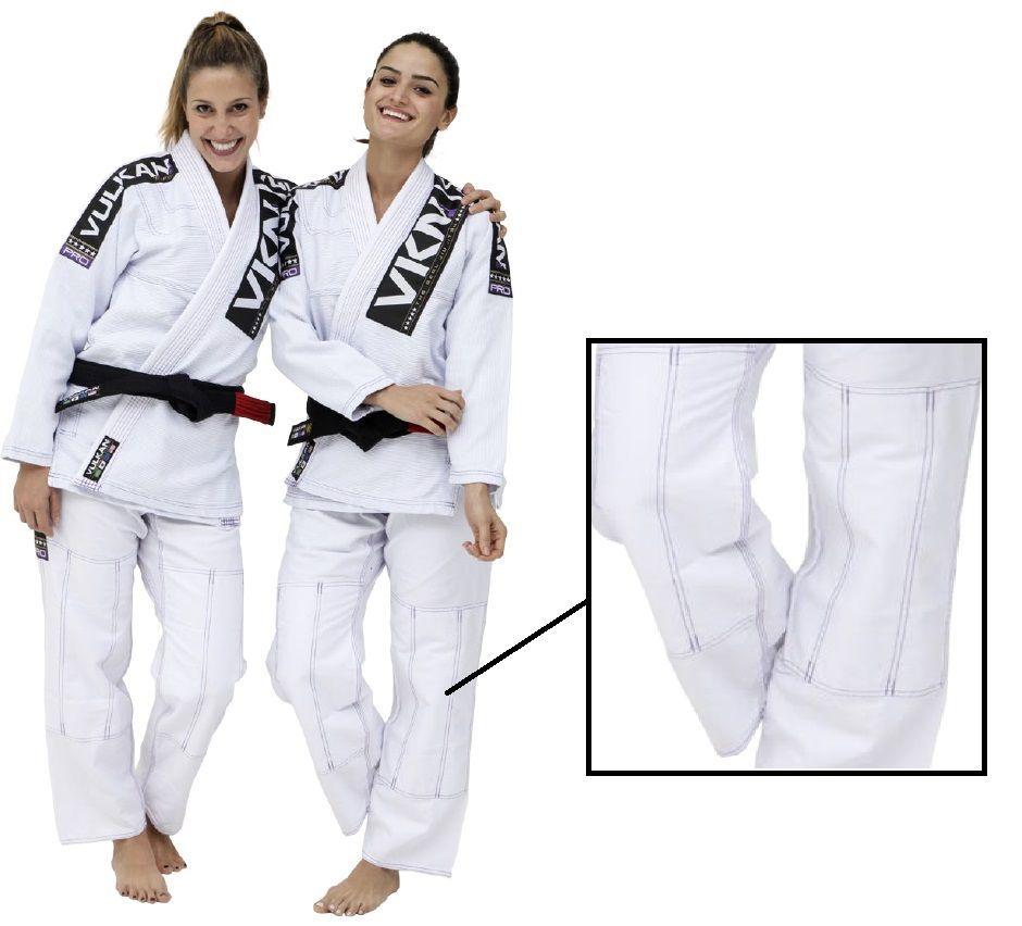 Kimono Vulkan Para Jiu Jitsu Profissional Adulto - VKN PRO SW BRANCO FEMININO