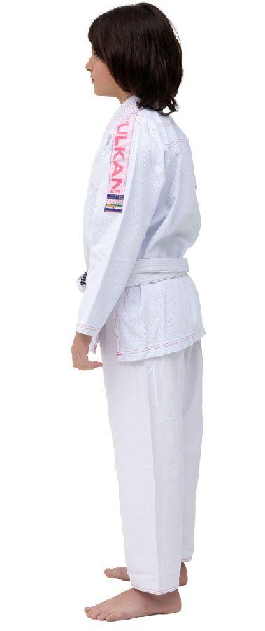 Kimono Vulkan Para Jiu-jitsu Profissional Infantil Feminino -  ULTRA LIGHT BRANCO