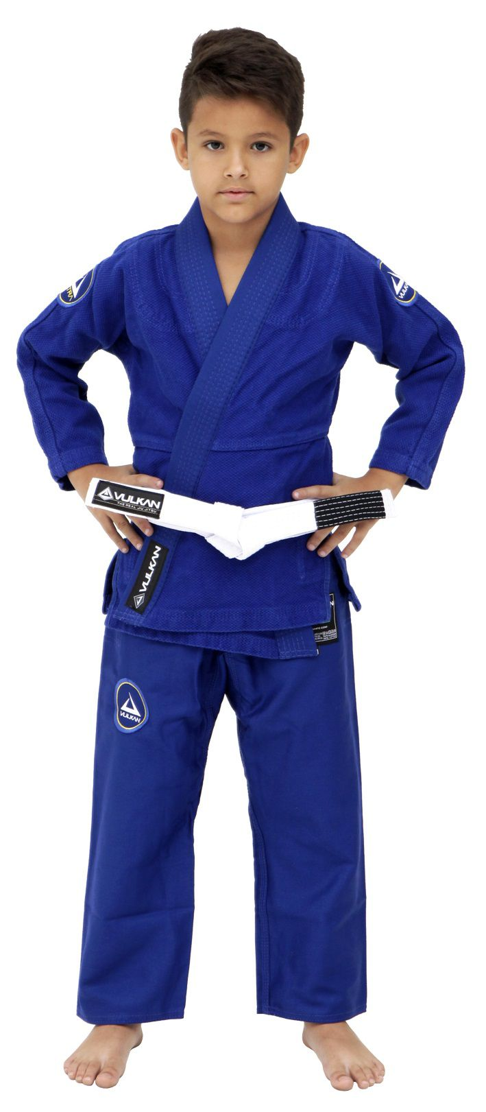 Kimono Vulkan Para Jiu-jitsu Profissional Infantil - NEO ULTRA LIGHT AZUL