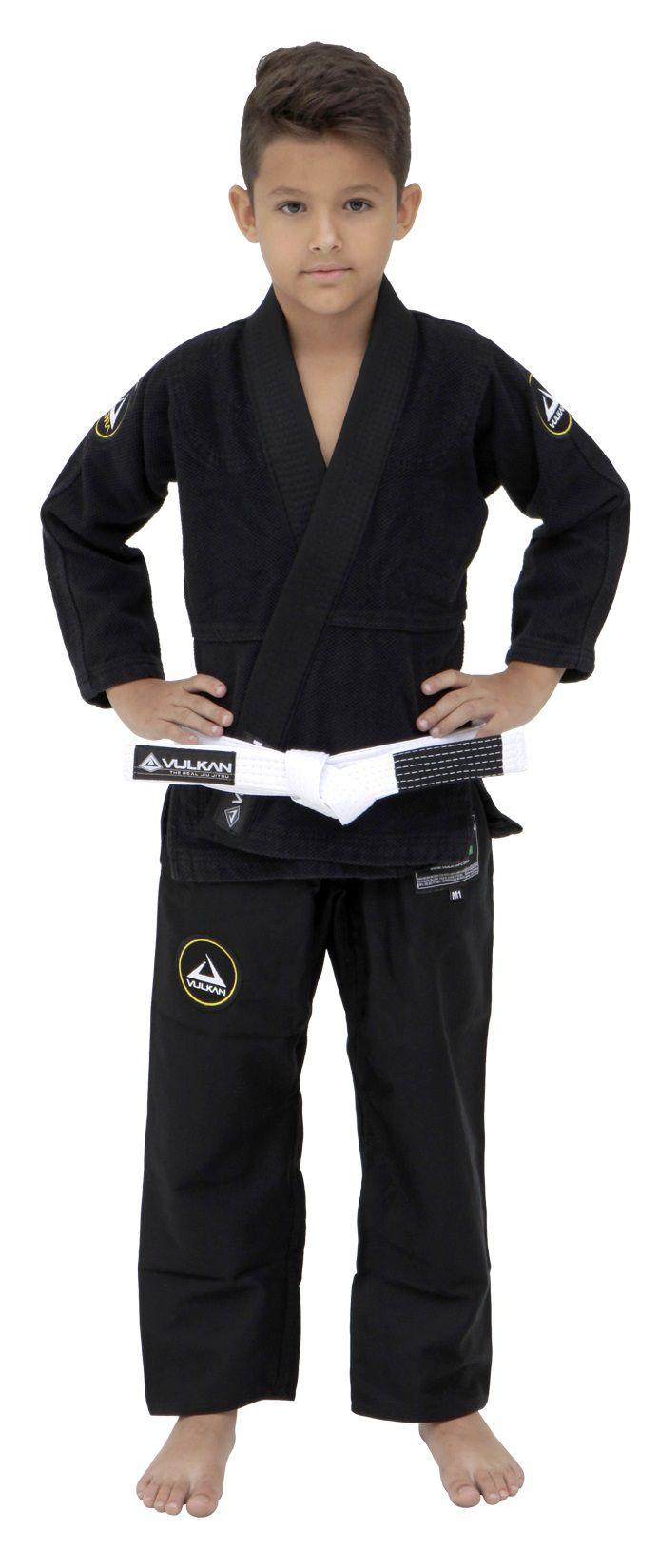 901847c239ae6 Kimono Vulkan Para Jiu-jitsu Profissional Infantil - NEO ULTRA LIGHT PRETO