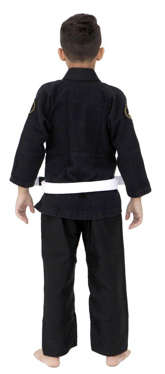 Kimono Vulkan Para Jiu-jitsu Profissional Infantil - NEO ULTRA LIGHT PRETO