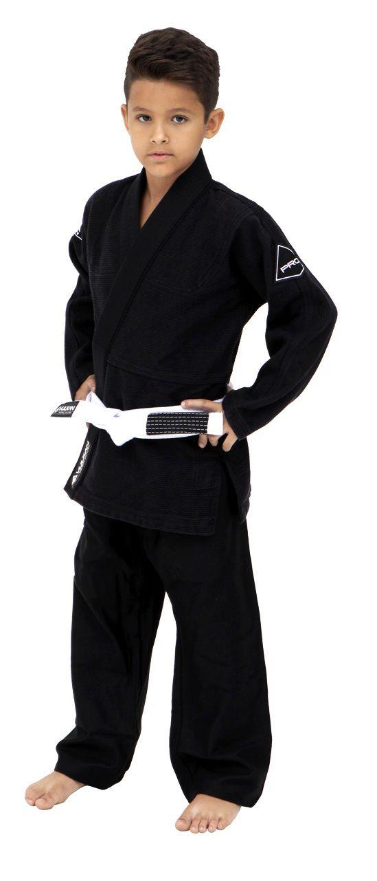 Kimono Vulkan Para Jiu-jitsu Profissional Infantil - Pro Evolution Preto Masculino