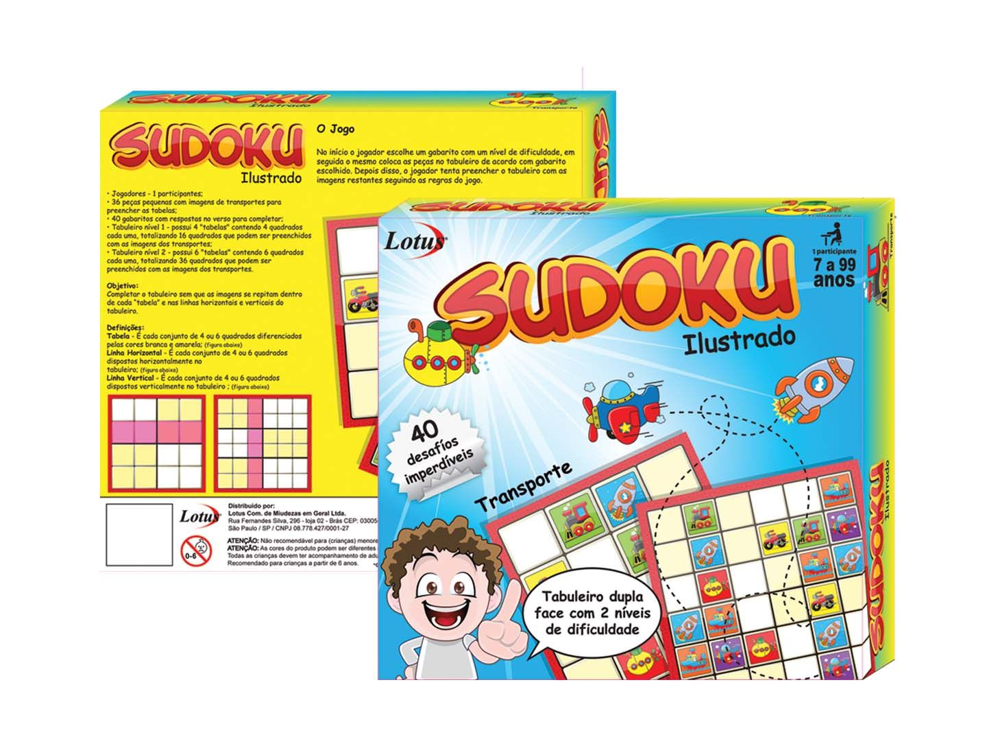 Kit 23x Sudoku Ilustrado Divertido Colorido - SK-1156