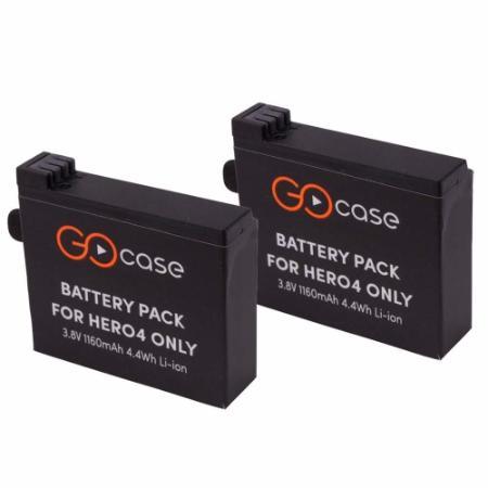 Kit 2 (Duas) Baterias GoCase Recaregaveis Para Câmera GoPro Hero 4 - PROPOWER