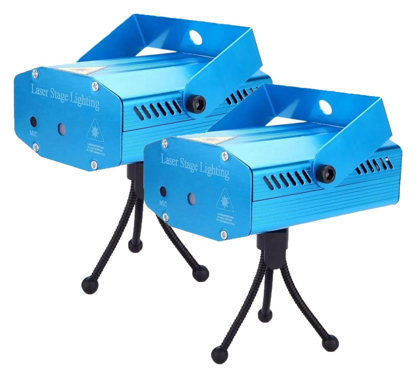 Kit 2 Mini Laser Projetor Holográfico Stage Lighting - SD-09