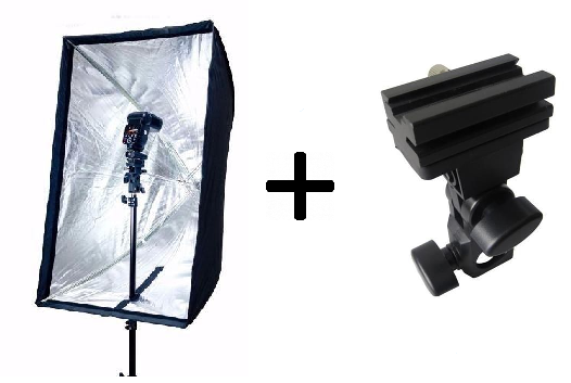 Kit Softbox 60x90 + Suporte Adaptador B - Para SpeedLight