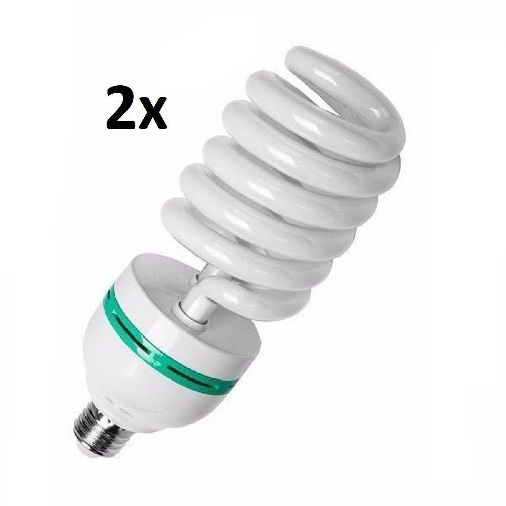 Kit 2x Lampada Para Foto Filmagem 45W 5500k - 110v