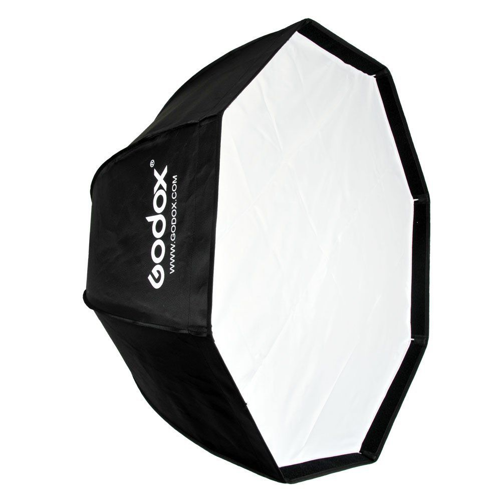 Kit 2x Softbox Octabox 80cm Universal Tipo Sombrinha Para Flash Tocha - SB1010-80