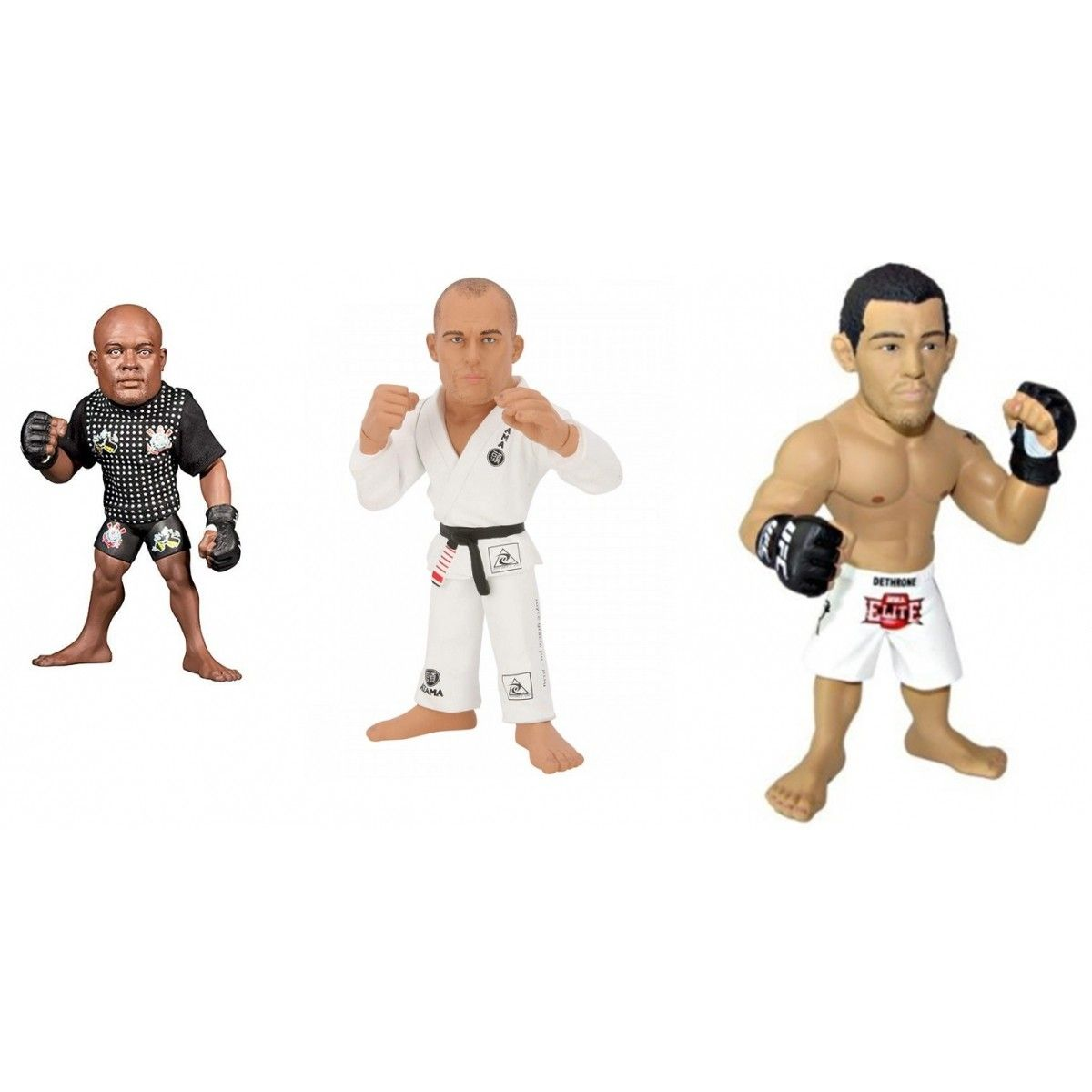 Kit 3 Action Figure Ultimate Fighting Championship Campeões Brasileiros - Spider Royce E Aldo