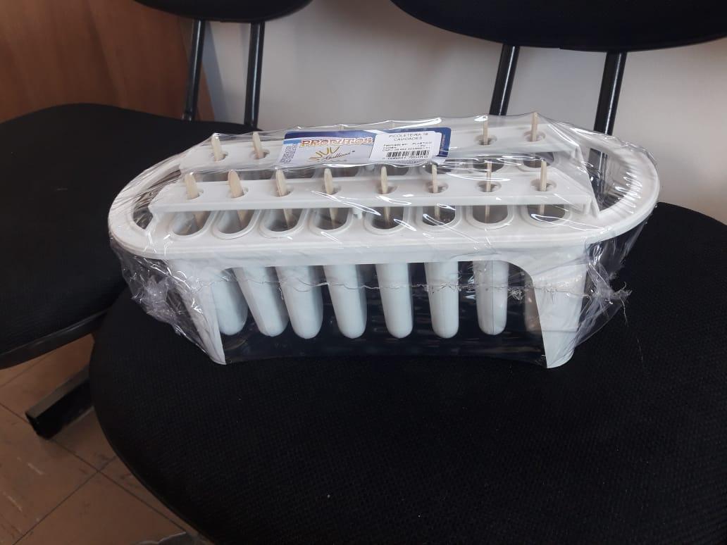 Kit 2 Picoleteiras Quadradas de 16 picolés padrão - 56.16