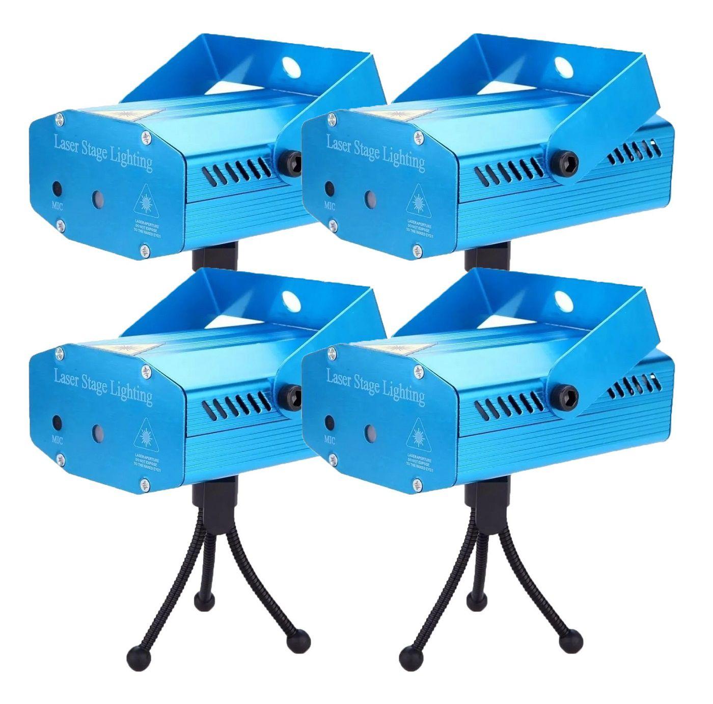 Kit 4 Mini Laser Projetor Holográfico Stage Lighting - SD-09