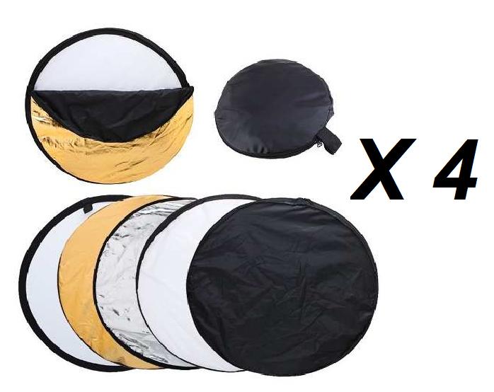 Kit 4 Rebatedores Fotográficos 5 em 1 Dobrável 110cm