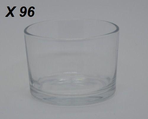 Kit 96 Potes de Vela de Vidro 155ml 2 Caixas