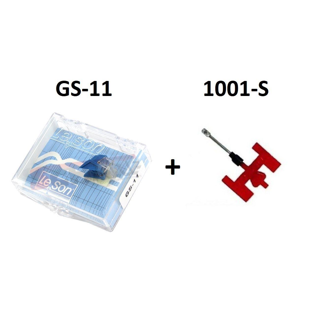 Kit Agulha Para Toca Discos e Vitrola Leson 1001-S + GS-11