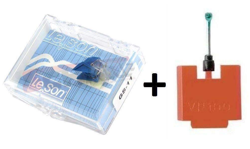 Kit Agulha Para Toca Discos e Vitrola Leson GS-11+VN100-D