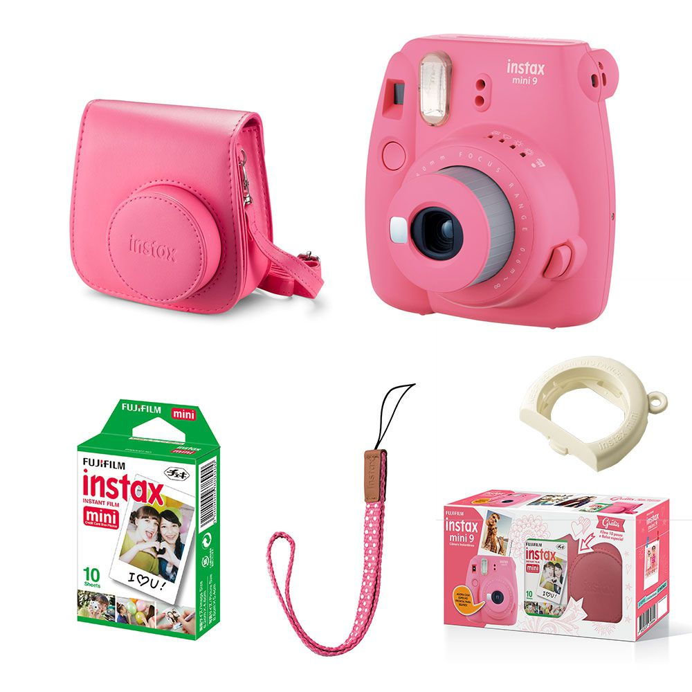 KIT CÂMERA FUJIFILM INSTAX - KIT_MINI9