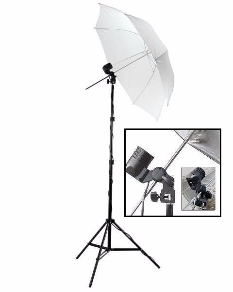 Kit De Iluminação Basico NewBorn YouTuber - 1 Tripé + 1 Sombrinha -+1 Soquete Simples