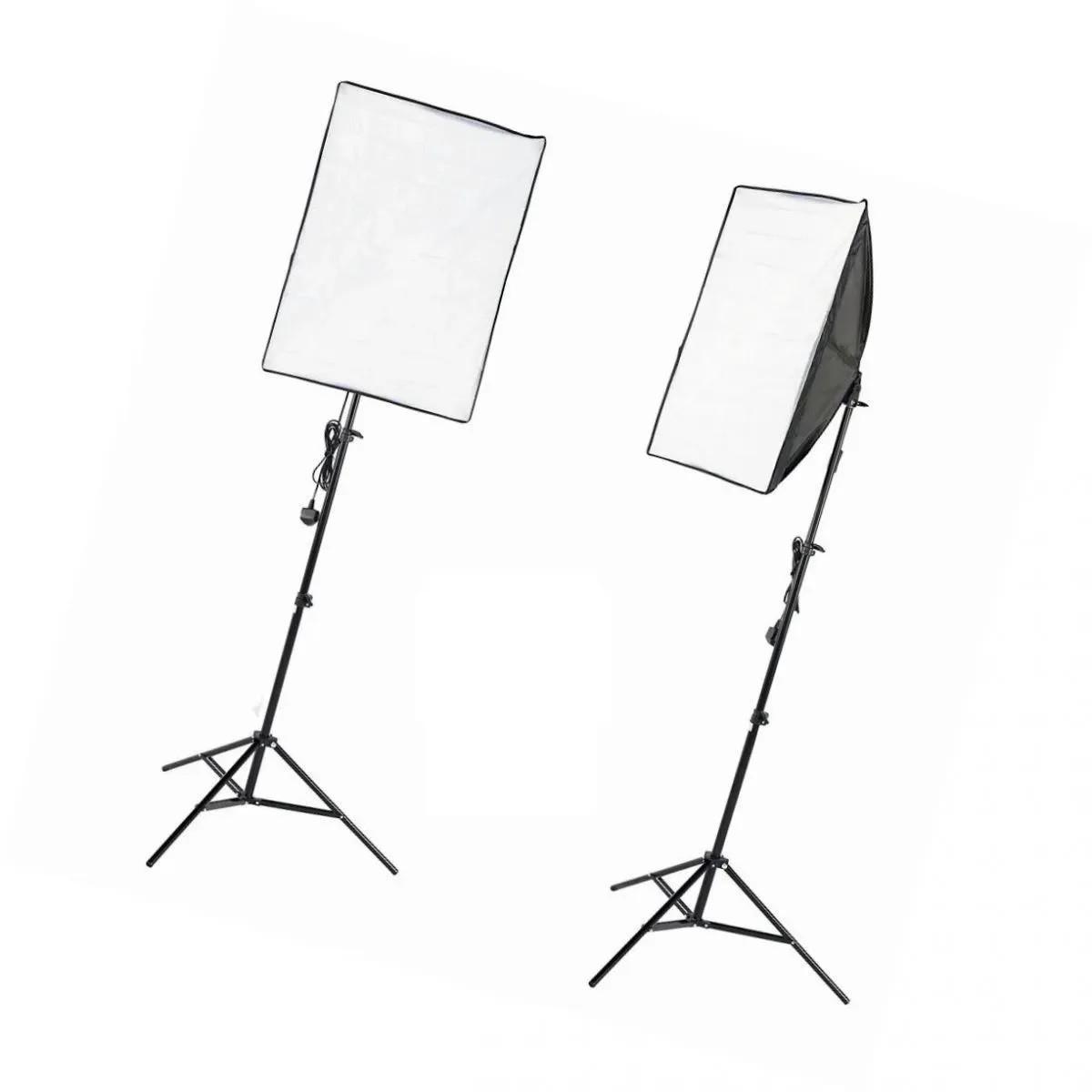 Kit de Iluminação Softbox 50x70 Com Soquete E27 Tripé 2m E Bolsa - NEWBORN3