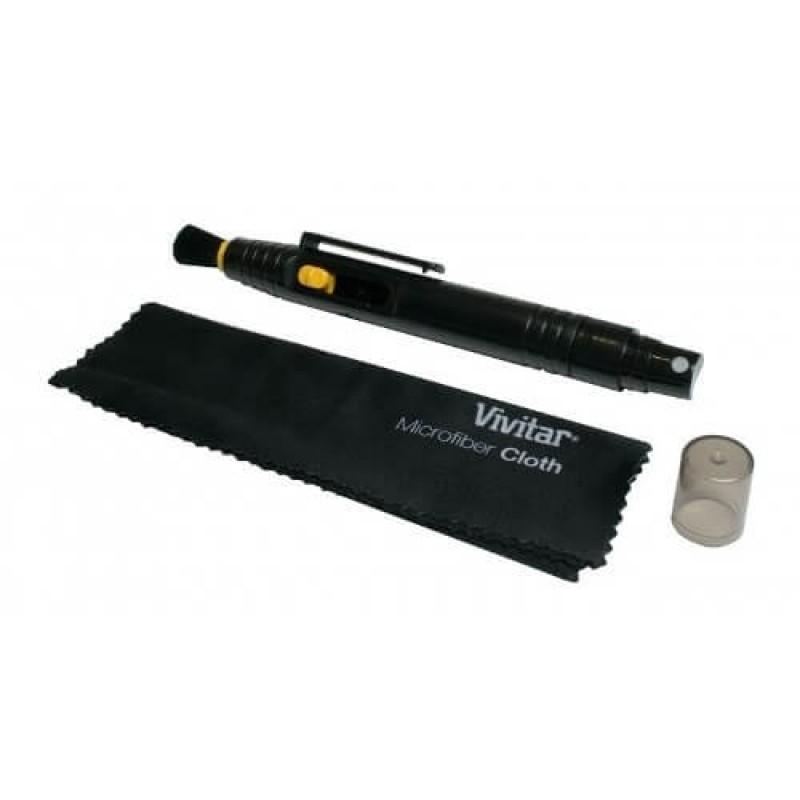Kit De Limpeza Vivitar Com Flanela E Pincel Retrátil Com Fluido - VIVLCP1