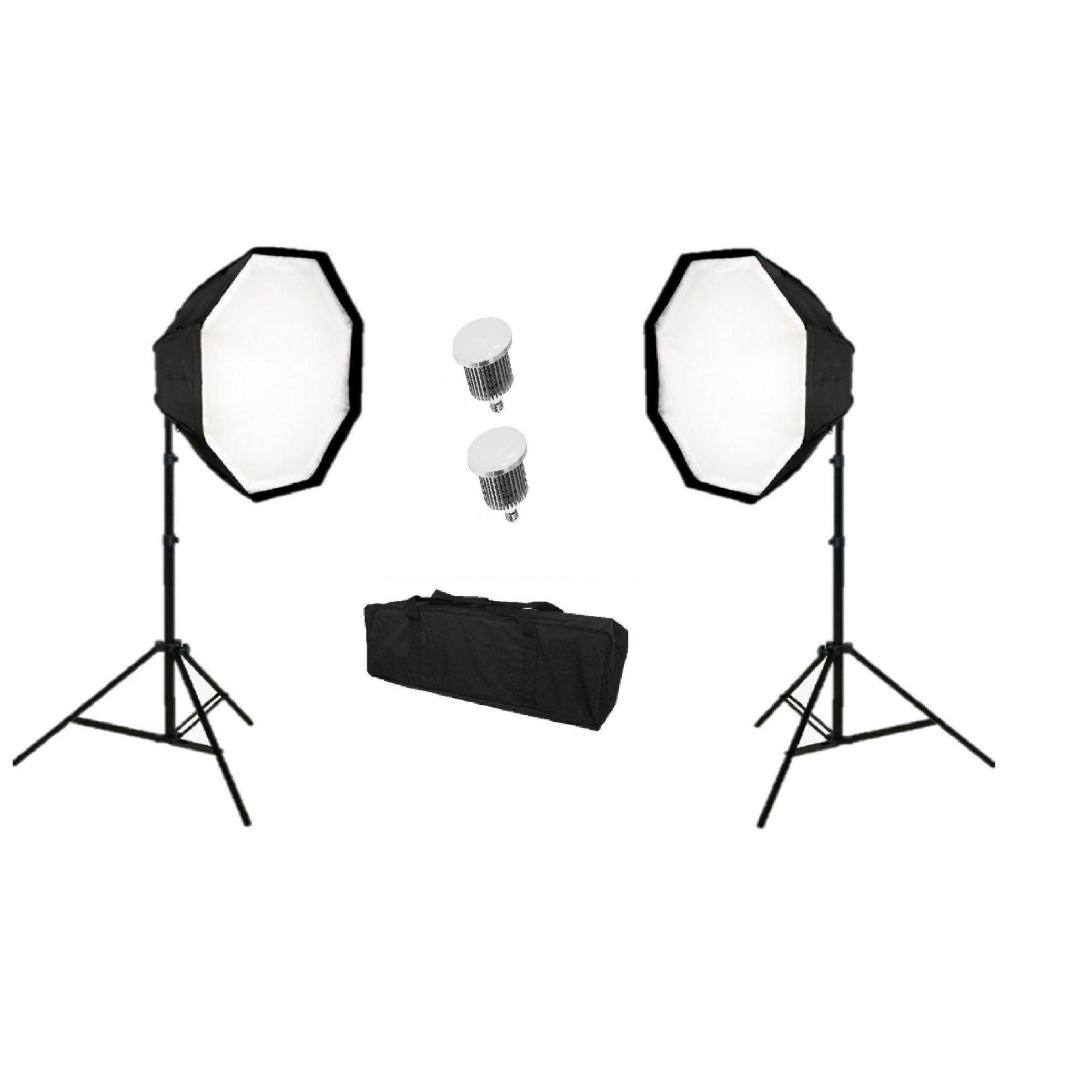 Kit Iluminação Octagonal de Estúdio Com Led 300W - OCTA400