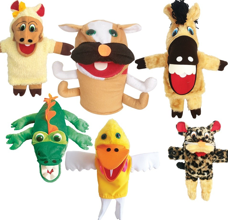 Kit Fantoche Bichinhos Com 6 Animais Diferentes - Animais
