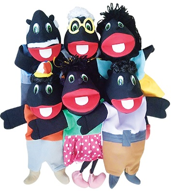 Kit Fantoche Família Negra Completa Gonzaga - KIT007