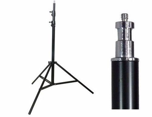 "Kit Fotográfico Softbox Octabox Profissional Para Estúdio 80cm + Tripé 2M St-803 + Suporte Adaptador ""B"" - Para SpeedLight"