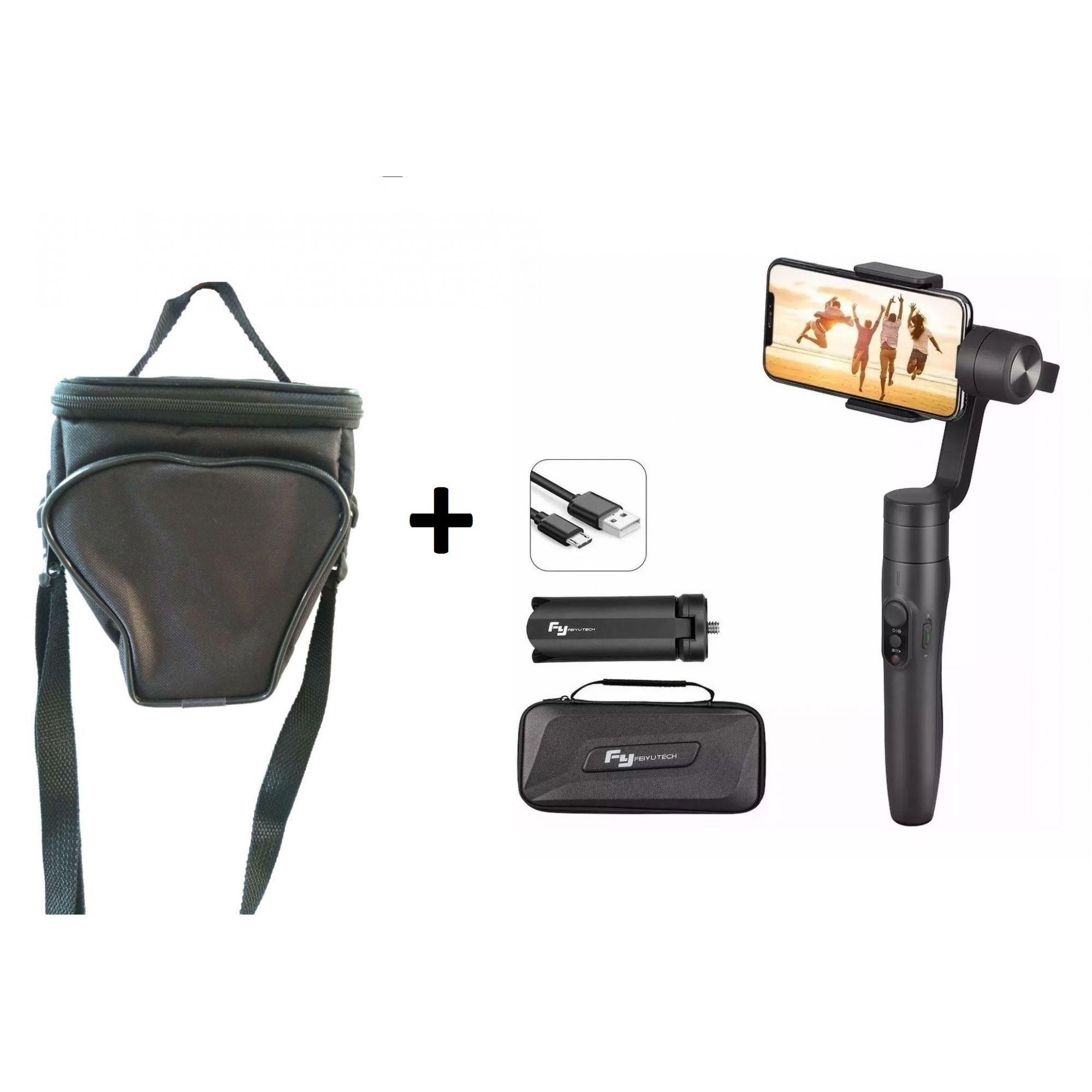 Kit Gimbal Estabilizador Para Câmera + Bolsa Para Câmera - FI0382+ISA1